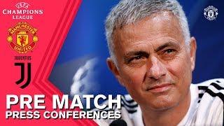 Mourinho & Lukaku Press Conference | Manchester United v Juventus | UEFA Champions League