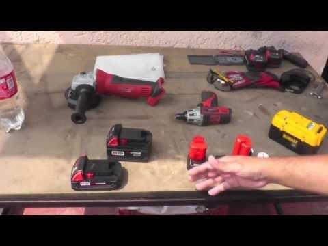 Amperaje y voltaje en las herramientas a batería