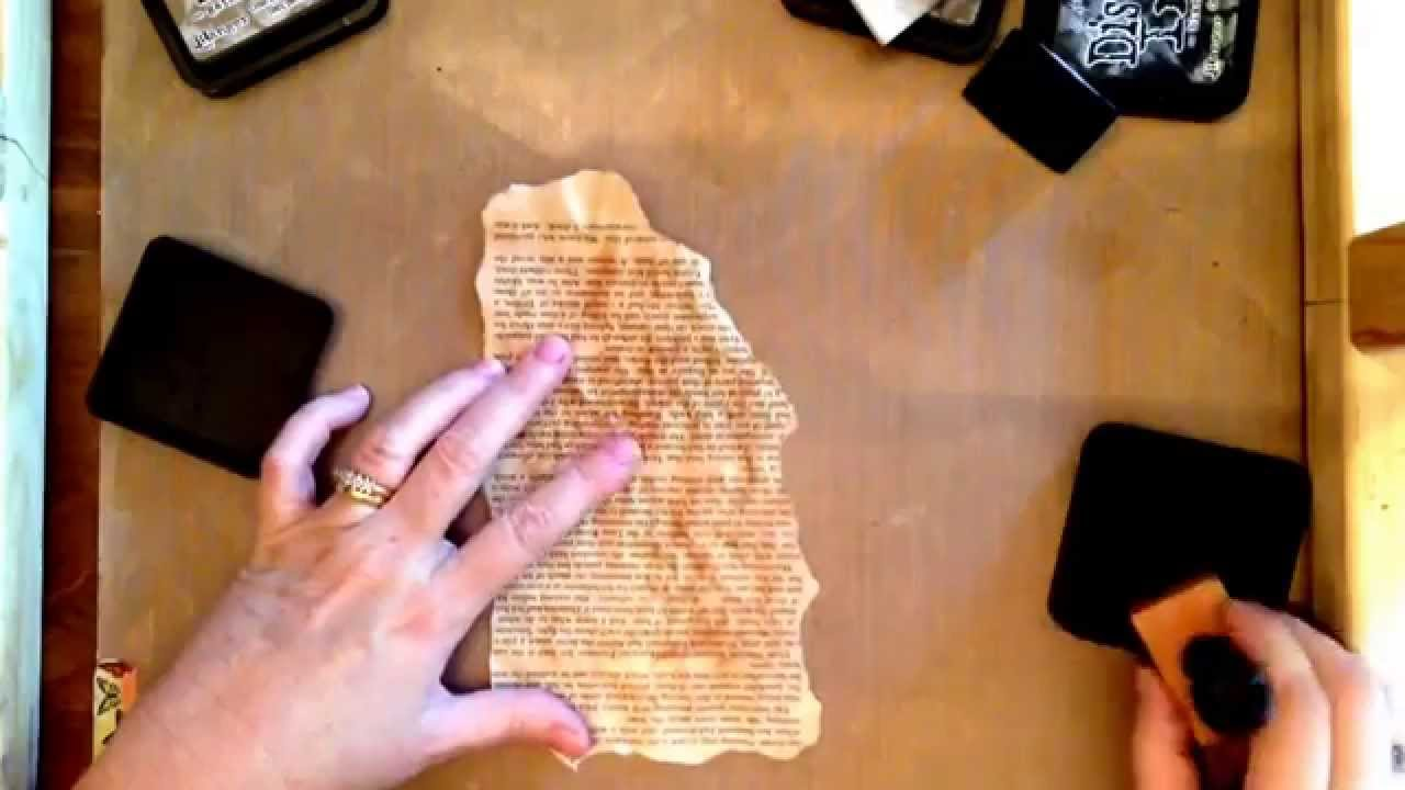 c33f43dc8768 How to make paper look burnt and distressed - YouTube