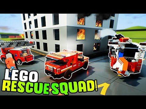 LEGO RESCUE TEAM SAVES THE CITY! - Brick Rigs Gameplay Roleplay - Lego Fire Trucks and Police Cars!