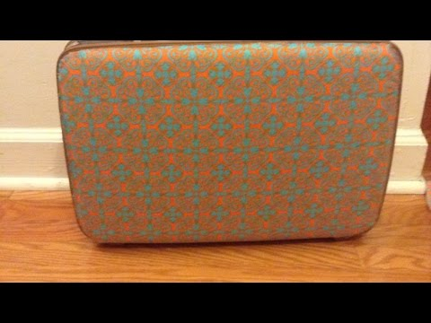 How To Easily Re - DIY cover an Old Suitcase Tutorial - Home