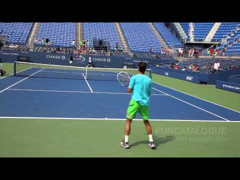 Tommy Robredo Practice US Open 2014 2/2