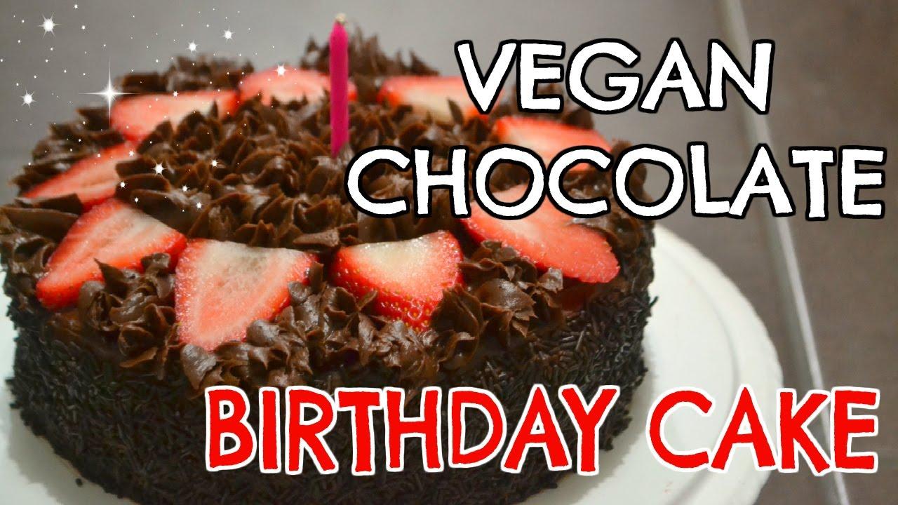 VEGAN CHOCOLATE BIRTHDAY CAKE VEGAN KIDS PARTY YouTube