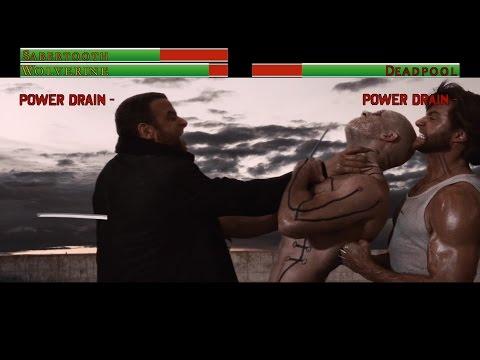 Wolverine vs Deadpool...with healthbars