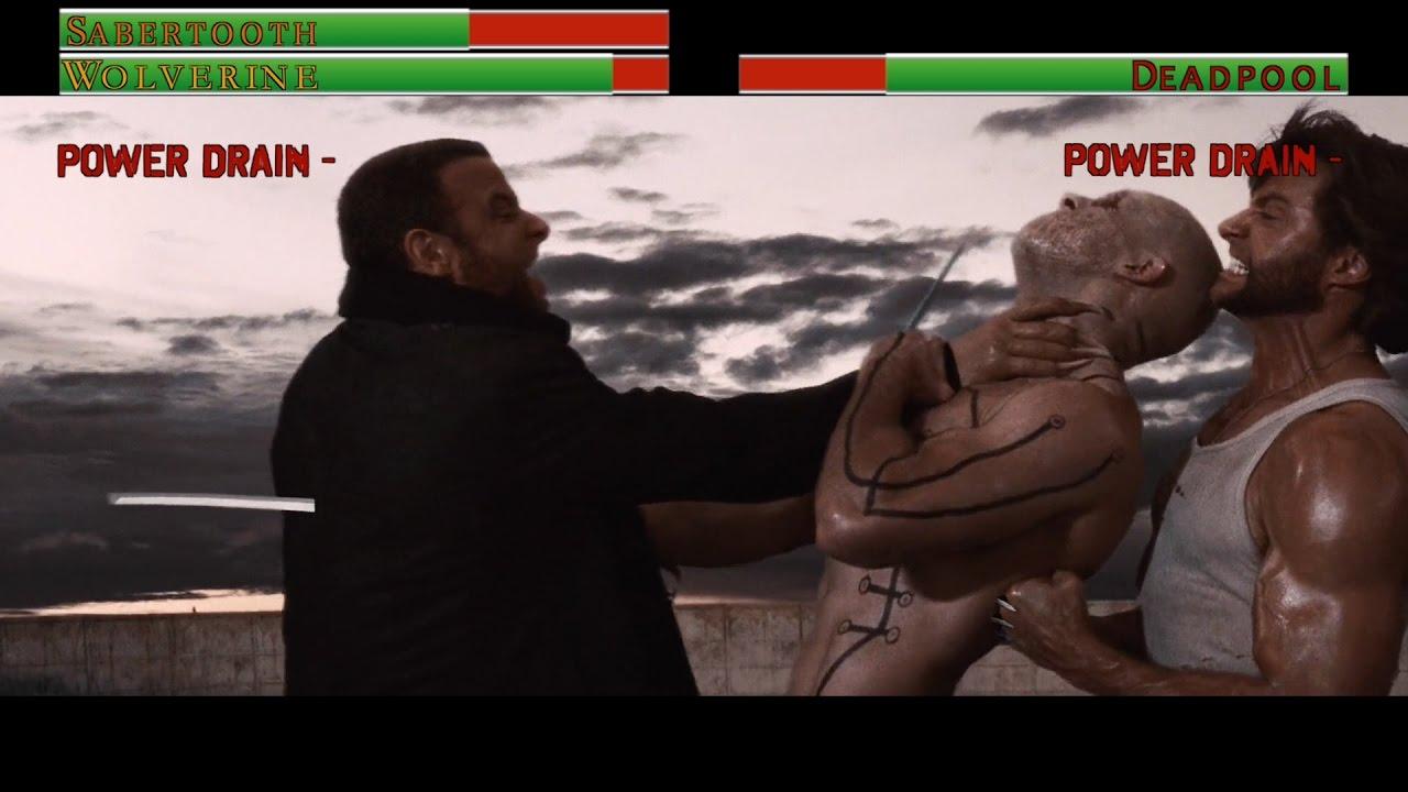Download Wolverine vs Deadpool...with healthbars