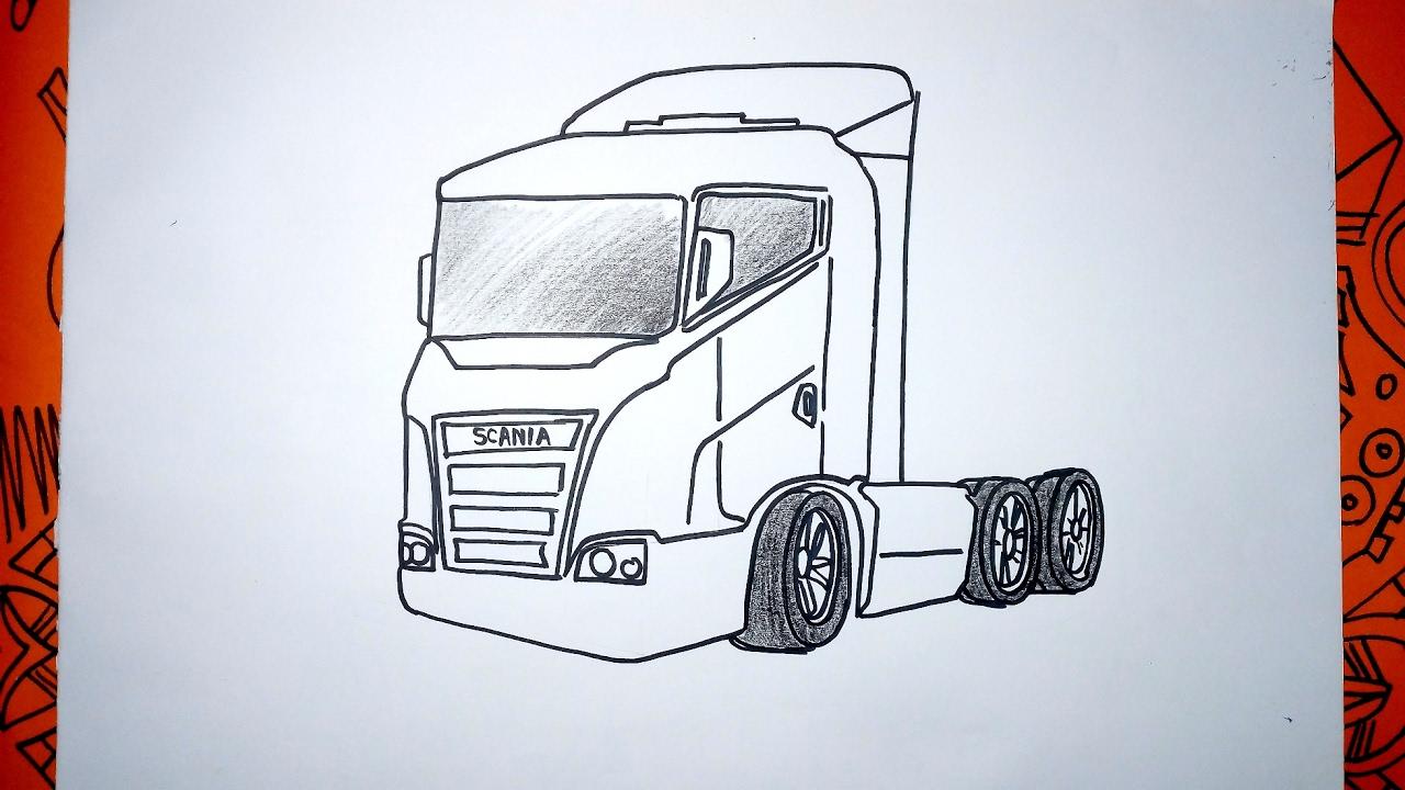 Cómo Dibujar Un Camión Europa Scania Paso A Paso