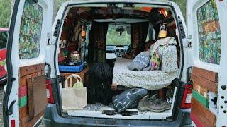 Micro Camper Van Conversion of Citroen Berlingo UK with Hungarian Puli Van Life 2020