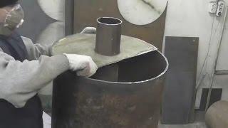 Печь для бани из металлолома  Печь для бани из трубы   хорошая печь для бани!