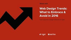 WEBINAR: Web Design Trends: What to Embrace & Avoid in 2016