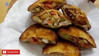 Shawarma Recipe  Bread Pocket With Shawarma Filling  ബരഡ  പകകററ  വതത  ഷവർമ  ഫലലഗ