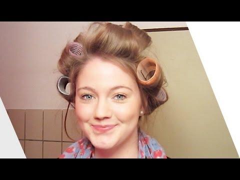 Haare lockenwickler drehen