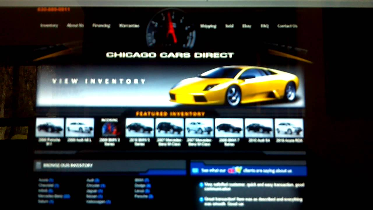 Breaking News Chicago Cars Direct You Suck As A Dealership - Sports cars direct