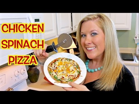 CHICKEN SPINACH PIZZA – Detox Friendly! | Cooking with Katiepie