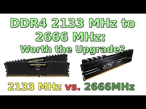 DDR4 2133 MHz vs 2666 MHz: Worth the Upgrade? - YouTube