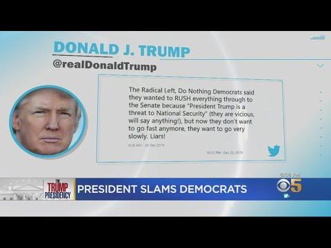 Trump Blasts 'Crazy Nancy' Pelosi in Twitter Tirade