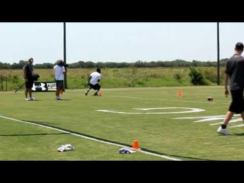 Cam Newton - IMG Madden 7-on-7 Receivers Skillz Challenge - Bradenton FL - Clip 01