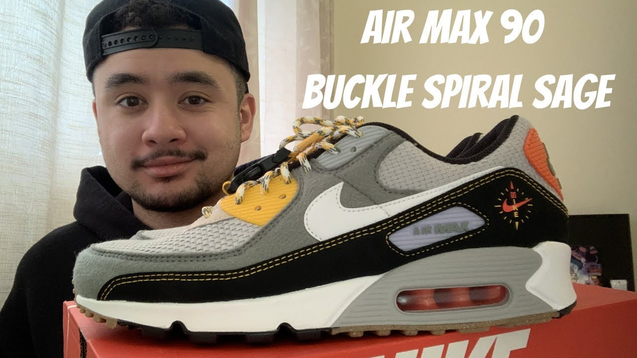 Nike Air Max 90 Buckle Spiral Sage Review/ On Feet
