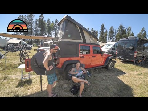 2016 Jeep Wrangler Camper Conversion – A Couples Tiny Home – JEEP OVERLAND WALK THROUGH