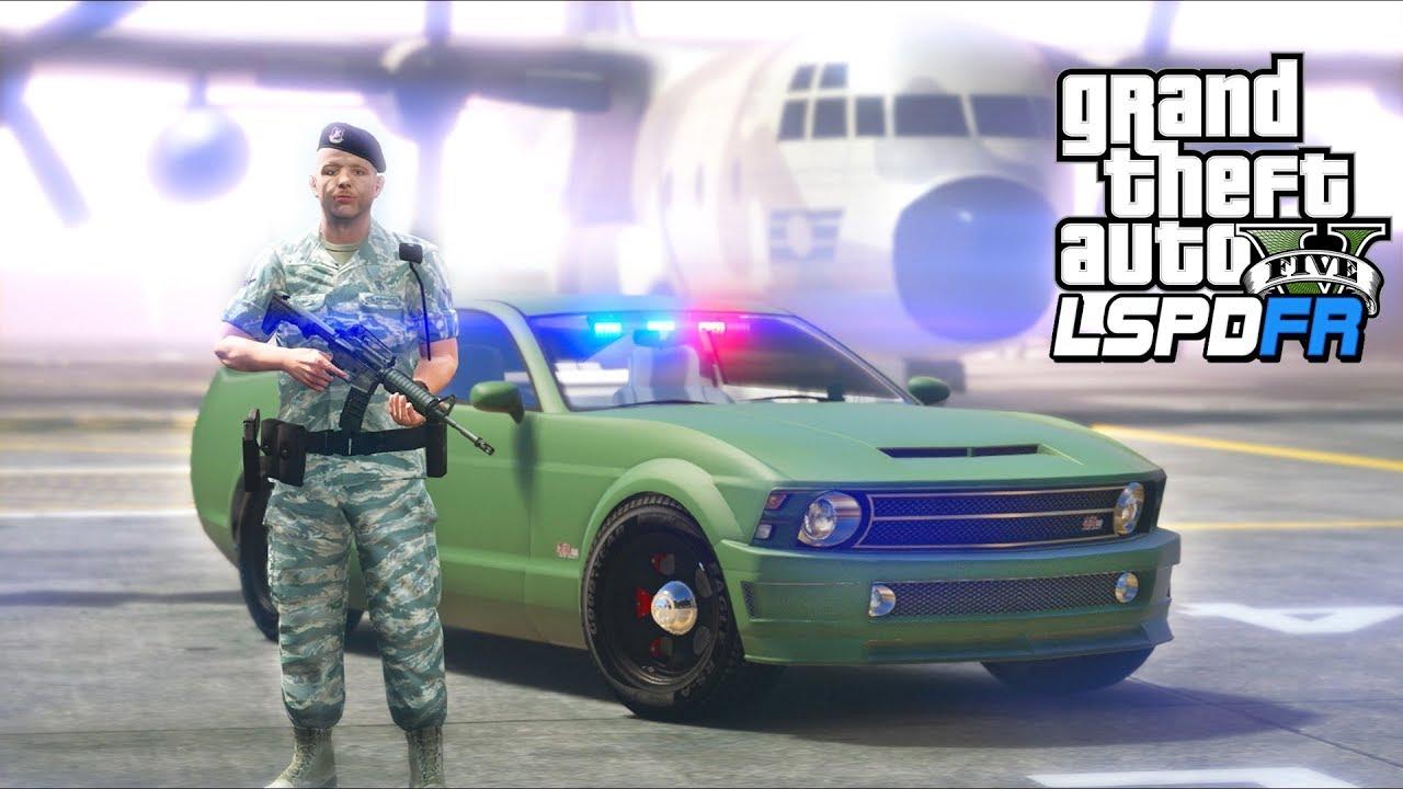 GTA 5 - LSPDFR Ep504 - INSANE Military Base Police Patrol!!