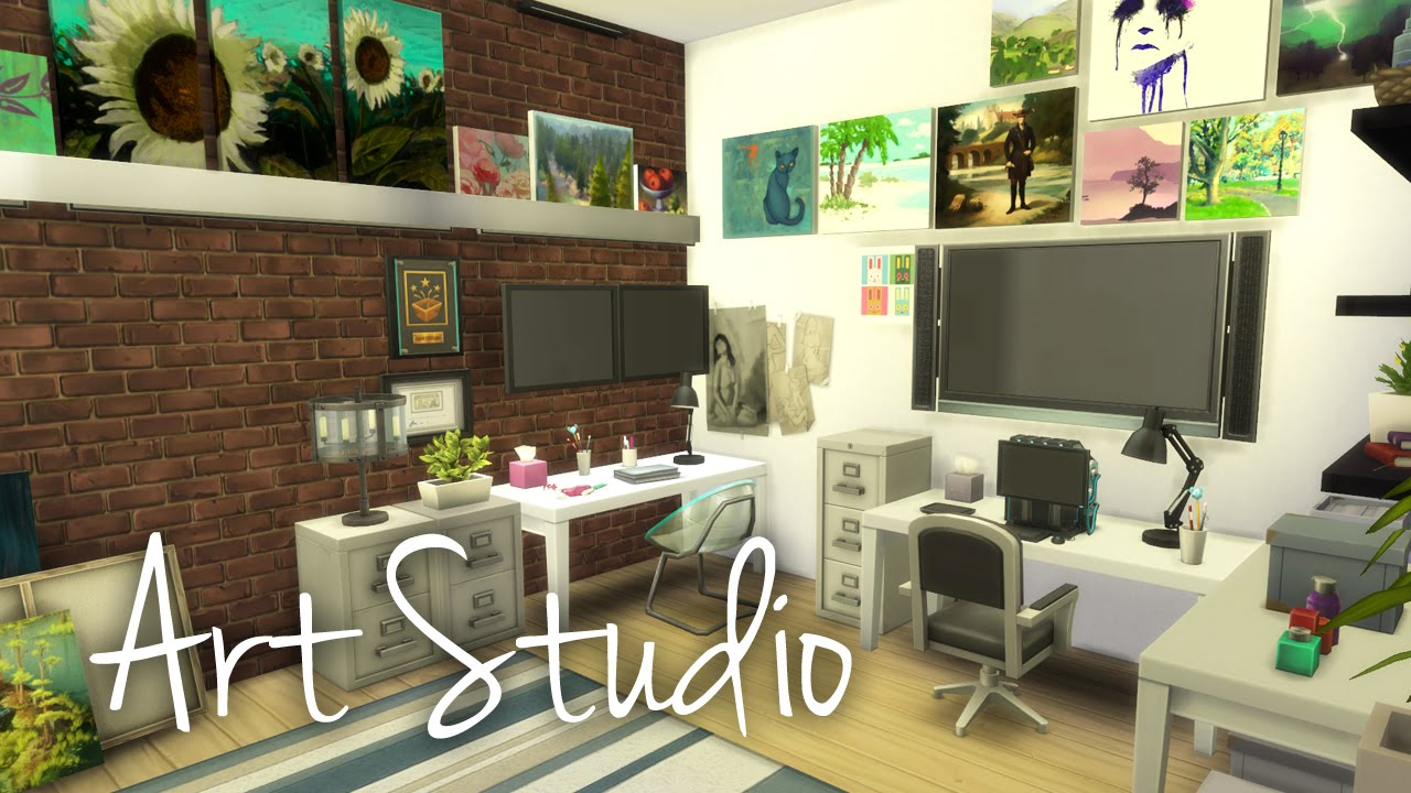 The Sims 4 Room Building Art Studio Youtube