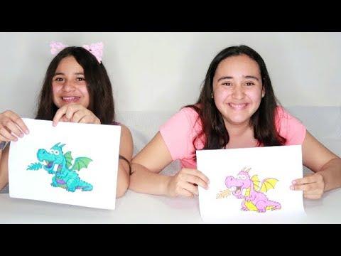 3 Marker CHALLENGE!! Dibujos bonitos con 3 rotuladores brillantes.