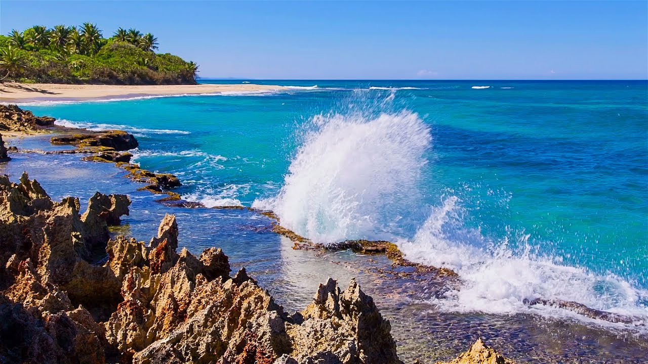 Splashing Waves All Day on Playa Encuentro - Refreshing ...