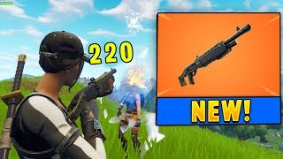 *NEW* Legendary Pump Shotgun Gameplay! (Fortnite)