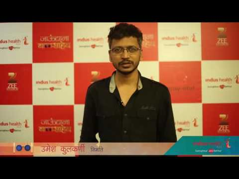 Umesh Kulkarni conveying the message to be healthy by opting preventive health checkup