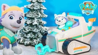 Unboxing the Paw Patrol Everest Snow Mobile and Rescue Vehicle Toy
