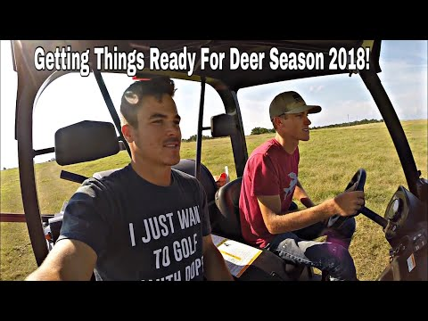 Setting Up A New Hunting Lease Deer Feeders And Checking Cams