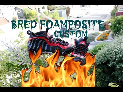 "#4 Custom ""Bred"" Foamposites  I Full WalkThrough  l Tips"