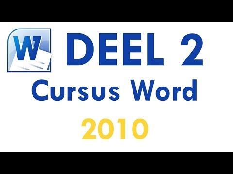 Cursus Word 2010 Deel 2: Tekst bewerken en proeflezen in Word 2010