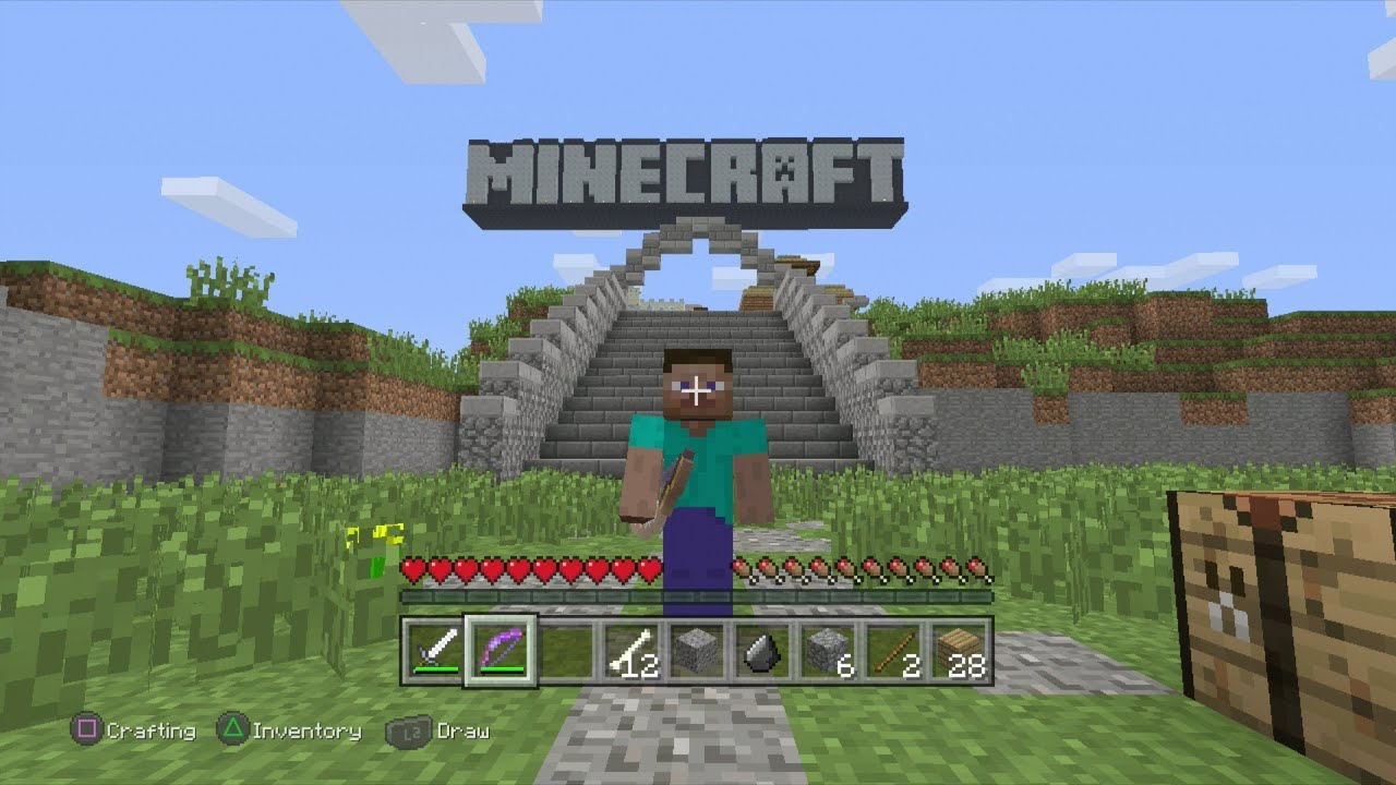 Minecraft ps3 edition demo gameplay youtube for Mine craft free demo