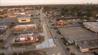 Aerial Drone road construction and utility inspections