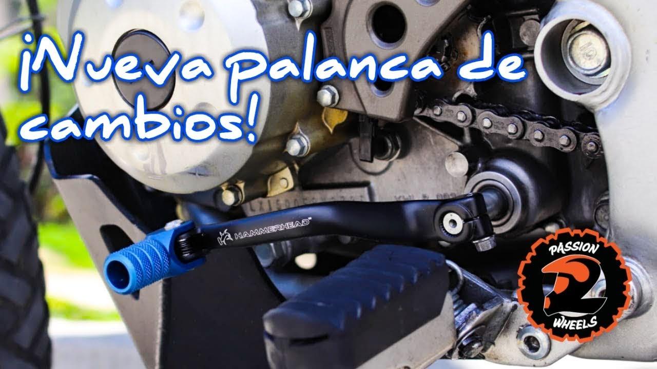 Accesorio de modificaci/ón de moto universal Palanca de cambio de marchas de aleaci/ón de aluminio CNC 150x65 mm Palanca de cambio de marchas rojo