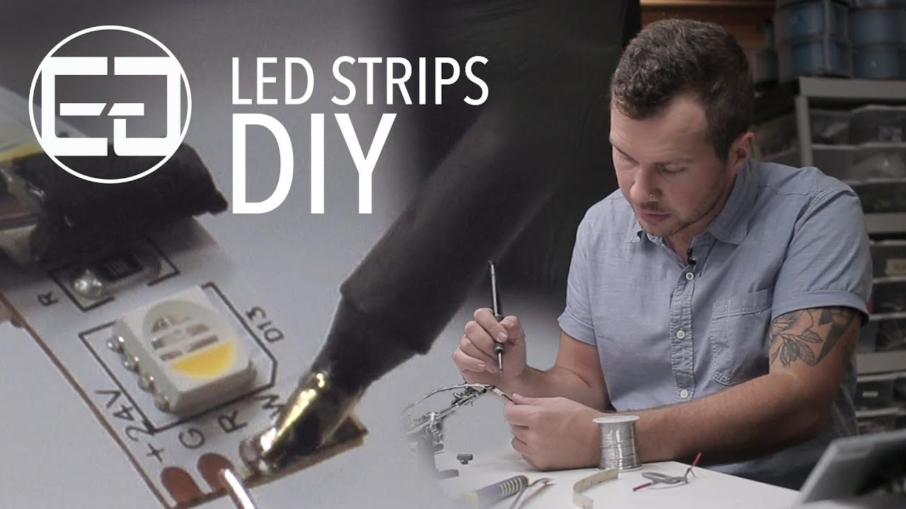 DIY Tutorial: Solder RGBW, RGB, and Single Color LED Strips