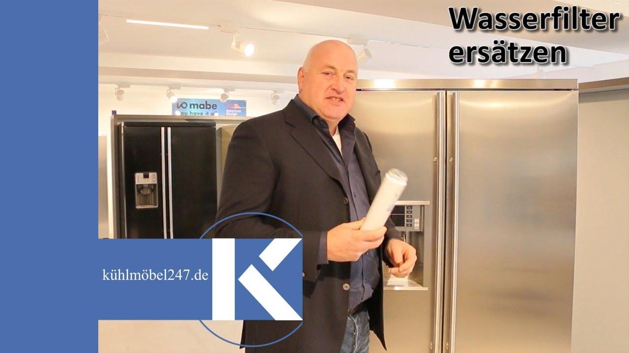 Side By Side Kühlschrank Filter Wechseln : Side by side kühlschrank wasserfilter wechseln youtube