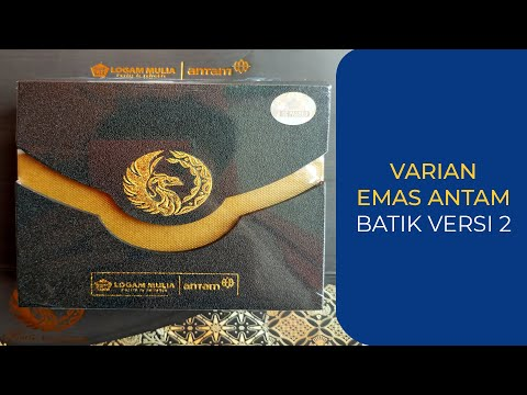 Emas Antam Seri Batik 2 Youtube