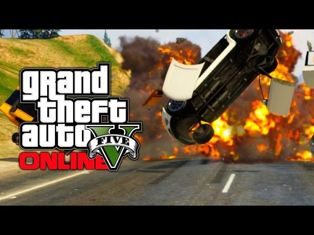CRAZY BOMB IN A CAR CHASE!! *GOT TO GO FASTER* | GTA V Online #1