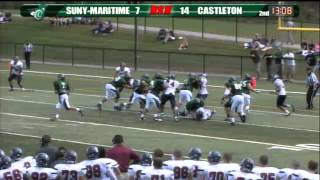 SUNY Maritime vs Castleton - Football Highlights - 09/22/12