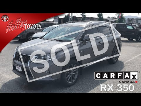 Pre-Owned 2013 Lexus RX 350 F-Sport With Navigation & AWD