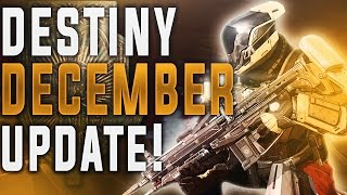 DESTINY DECEMBER NEWS UPDATE!  (Iron Banner Rift, Next Live Event and More!)