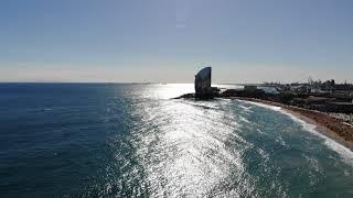 Mavic Air Drone - Barcelona's Beach