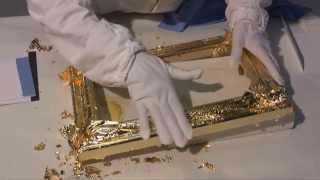 видео Разные картины на сусальном золоте