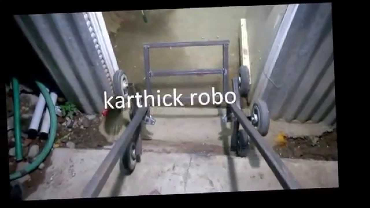 step/stair climbing trolley mechanical engineering project topics