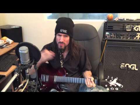 Bumblefoot recording lead guitars to Sleepwalking, demo'ing AmpliTube Engl