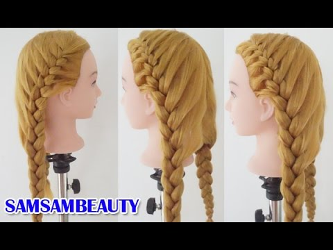 ทรงผมไปโรงเรียนถักเปียแบบสวยเก๋ : Cute and Beauty Braid Tutorial SAMSAM BEAUTY