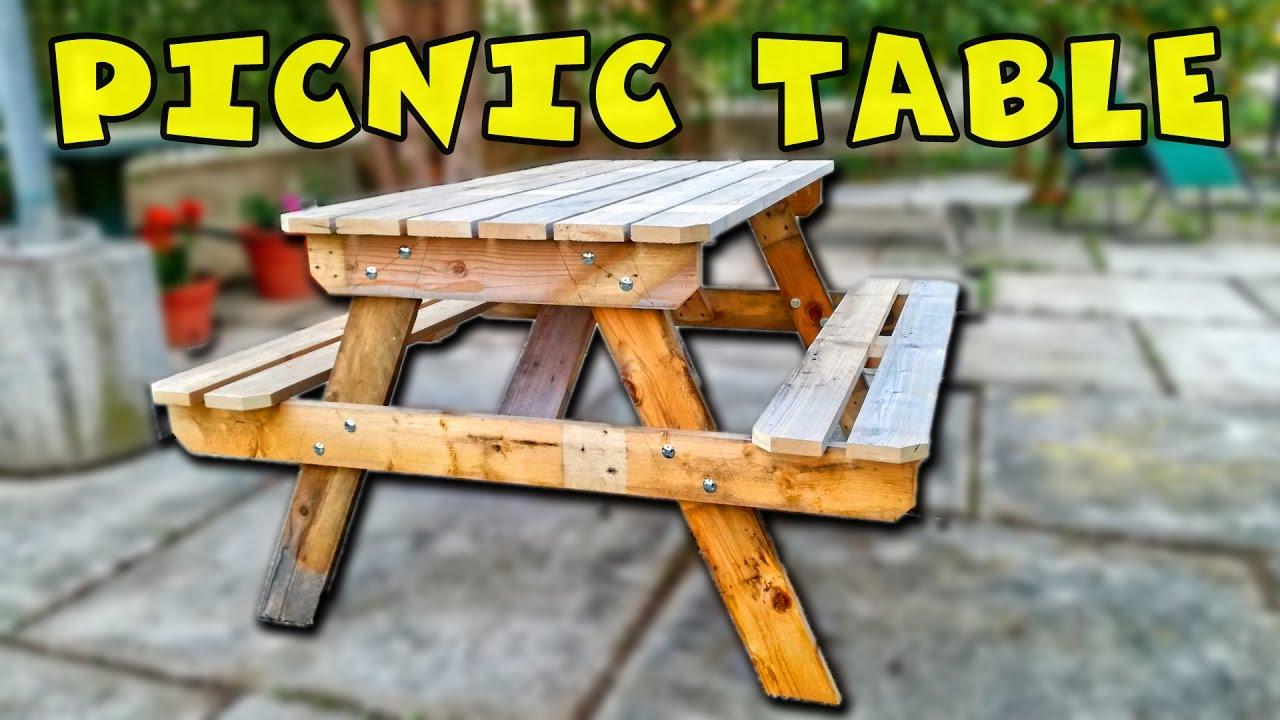Costruire Un Tavolo Da Giardino.The Traditional Picnic Table Tavolo Da Picnic Youtube