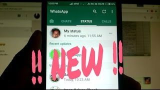 The New WhatsApp Status Feature !!