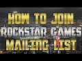 Gambar cover How to Join Rockstar Games Mailing List & Social Club GTA 5 Free Money Bonus